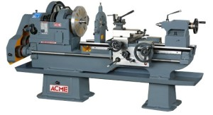 This is what the typical lathe looks like in a machine shop.