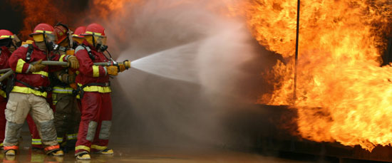 This is am actual picture of the OSU Fire Service training plant workers to fight fires.