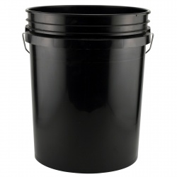 A black tool bucket like this