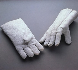 Asbestos Gloves worn when putting hot bearings on a motor shaft (for instance)