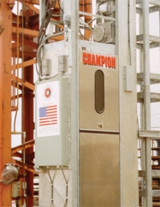 A typical Stack Elevator. Not the same brand as ours.
