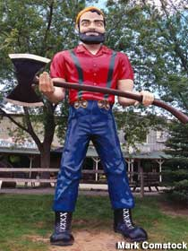 Paul Bunyan Imitating Don Spears waiting for us on Monday