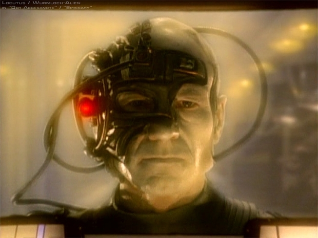 "Captain Picard as Locutus trying to convince you that ""Resistance is Futile"""