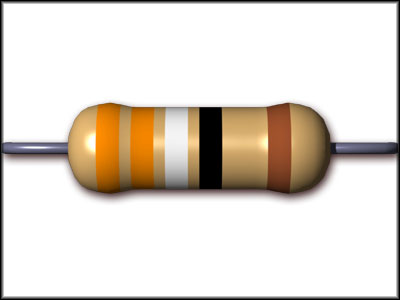This for instance is a 339 ohm resistor with a 5% tolerance.