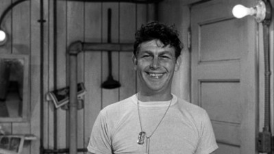 Andy Griffith as Permanent Latrine Orderly in No Time for Sergeants grinning ear-to-ear