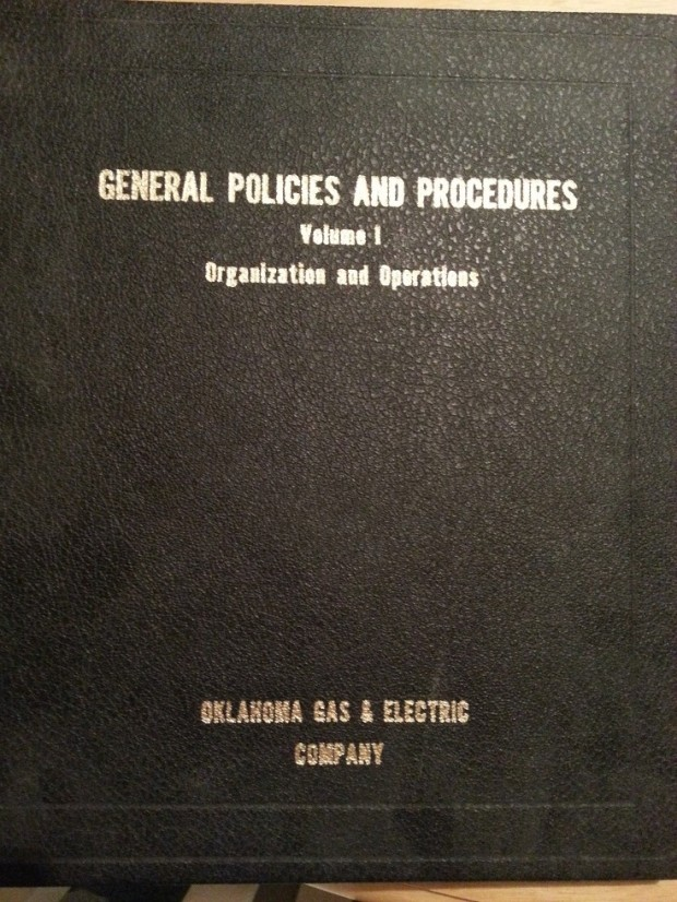 One of two General Policies and Procedures Binders