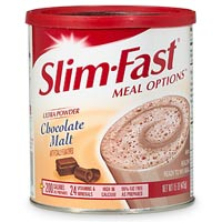 I would mix up a helping of Slim Fast each day for lunch