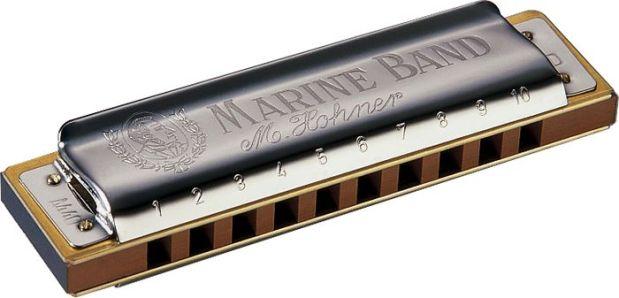 A Hohner Marine Band Harmonica