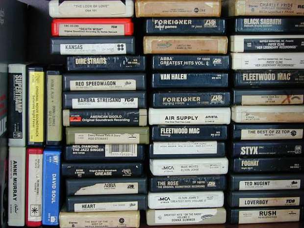 A stack of 8 Track Tapes