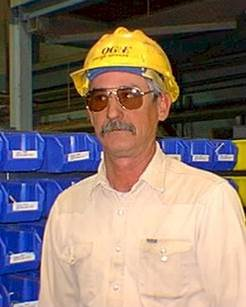 Larry Riley 20 years after I first met him. He has a much newer hardhat in this picture