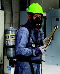 Man wearing an SCBA
