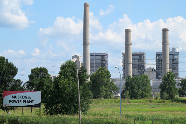 Power Plant in Muskogee Oklahoma