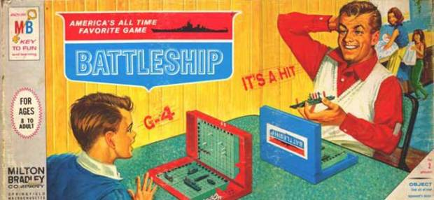 Not the battleship game played by Power Plant Men
