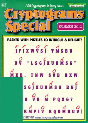 An example of a cryptogram magazine