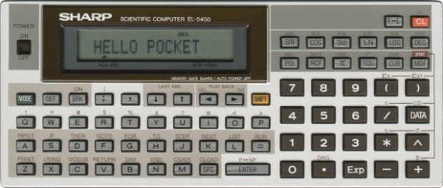 A Sharp Calculator like I used to program the Battleship game