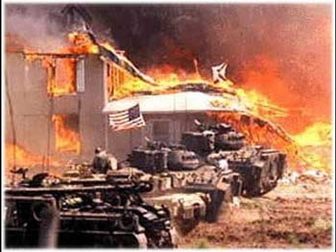 The Siege of the Branch Davidian Compound outside Waco Texas